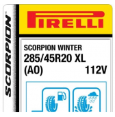 285/45 R20 112V Pirelli Scorpion Winter XL AO (Audi)