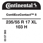235/55 R17 103H Continental ContiEcoContact 5 XL (Volkswagen T6)