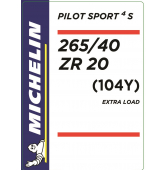 265/40 ZR20 (104Y) Michelin Pilot Sport 4 S XL