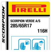 285/65 R17 116H Pirelli Scorpion Verde All-Season M+S