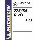 275/55 R20 113T Michelin Latitude X-Ice 2