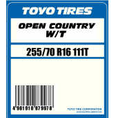 255/70 R16 111T Toyo Open Country W/T