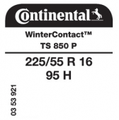 225/55 R16 95H Continental WinterContact TS850 P