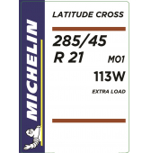 285/45 R21 113W Michelin Latitude Cross XL M+S MO1 (Mercedes AMG)