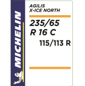 235/65 R16C 115/113R Michelin Agilis X-Ice North