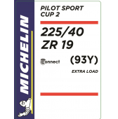 225/40 ZR19 (93Y) Michelin Pilot Sport Cup 2 Connect XL
