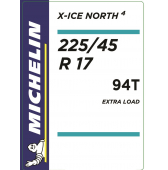 225/45 R17 94T Michelin X-Ice North 4 XL