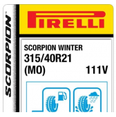 315/40 R21 111V Pirelli Scorpion Winter MO (Mercedes)